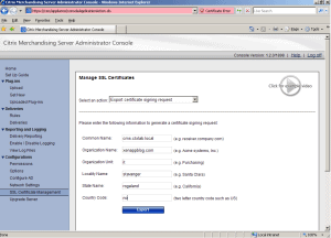Citrix Merchandising Server Upgrade to 1.2 02 300x216 How to upgrade Citrix Merchandising Server