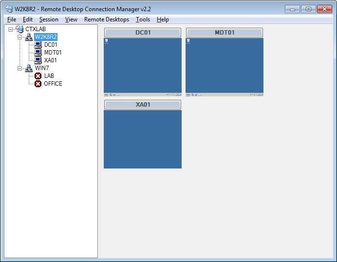 Remote Desktop Manager Enterprise Edition full screenshot