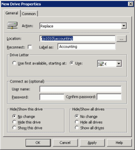 Map Network Drive Group Policy 01 270x300 Using Group Policy to hide and map specified drives