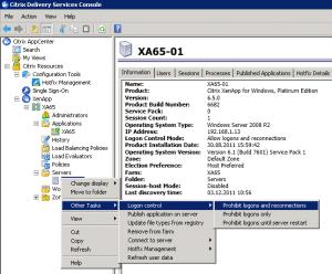 Citrix XenApp 65 Logon Control 300x248 Citrix XenApp Rolling Reboot Script
