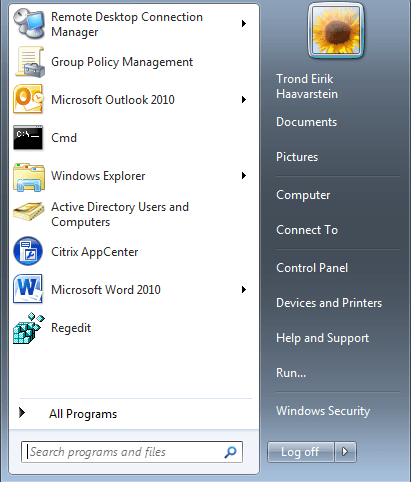 Pin Icons to Start Menu for All Users with GPO - xenappblog