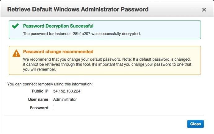 AWS Password Information